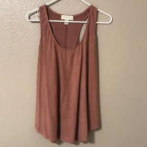 Faux Suede pink tank top!